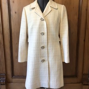 Vintage Fashionbilt White Wool Coat